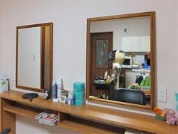 美容室で使用したアンティークミラー(20110)