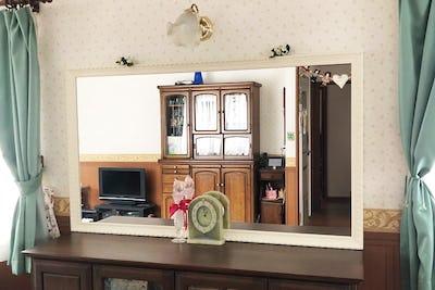 お部屋の姿見に バロック調ミラーシリーズ「D-20180」を使用した事例 (埼玉県蓮田市 Y様)