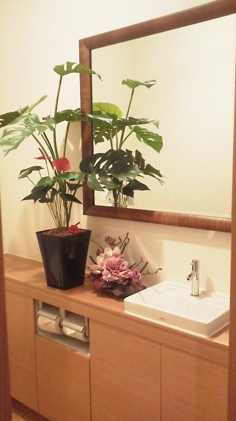 トイレの姿見に使用したアンティークミラー