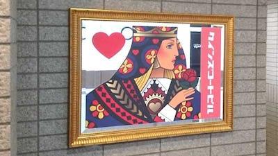 ビルの看板にオーナメントを印刷した「アンティークミラー」を使用した事例 (長野県長野市 B社様)
