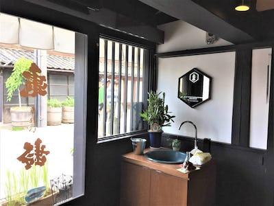店舗の装飾鏡に 和風モダンミラーシリーズ「10-6554」を使用した事例 (長野県上田市 O様)