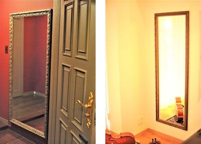 玄関とお部屋の姿見に「アンティークミラー」を使用した事例 (東京都文京区 F様)