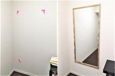 お部屋の姿見に アジアンミラーシリーズ「E-49113」を使用した事例 (東京都新宿区 H様)