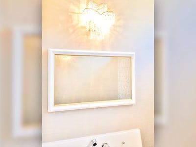 洗面所の鏡に!モダンミラーシリーズ「18-6535」を使用した事例