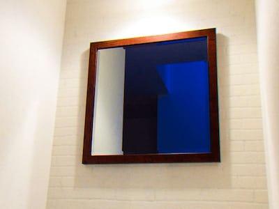 洗面所の鏡に!カジュアルミラーシリーズ「A-10145」を使用した事例