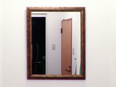 洗面所の鏡に!オールドミラーシリーズ「12-6069」を使用した事例