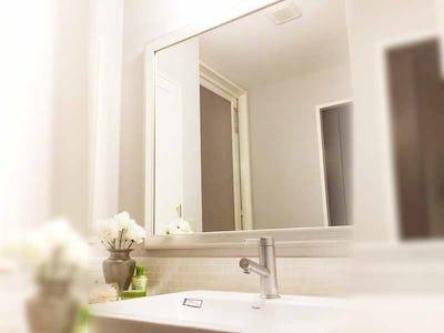 洗面所のリフォームに!「アンティークミラー」を設置した事例 (神奈川県横浜市 C様)
