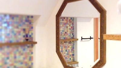 こだわりの鏡!新築の玄関や洗面所に「アンティークミラー」を設置した事例 (兵庫県神戸市 K様)