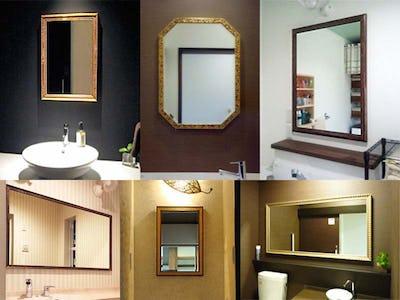 洗面所・トイレでアンティークミラーを使用した事例30選