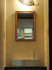 洗面所に使用したアンティークミラー(A-20141)