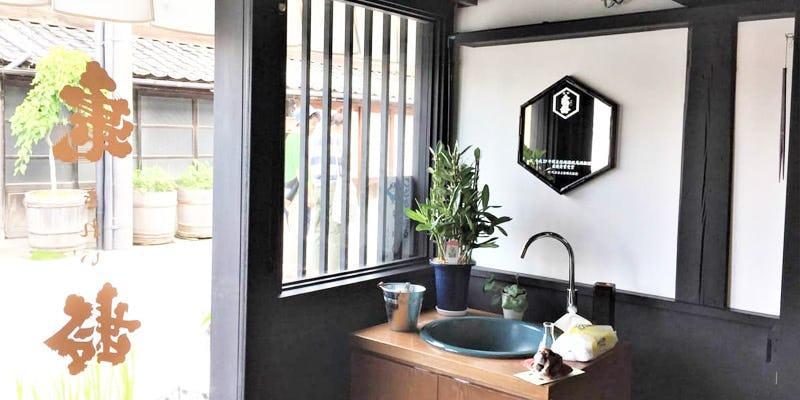 店舗の装飾鏡に「和風モダンミラーシリーズ 10-6554」を使用した事例 (長野県上田市 O様)