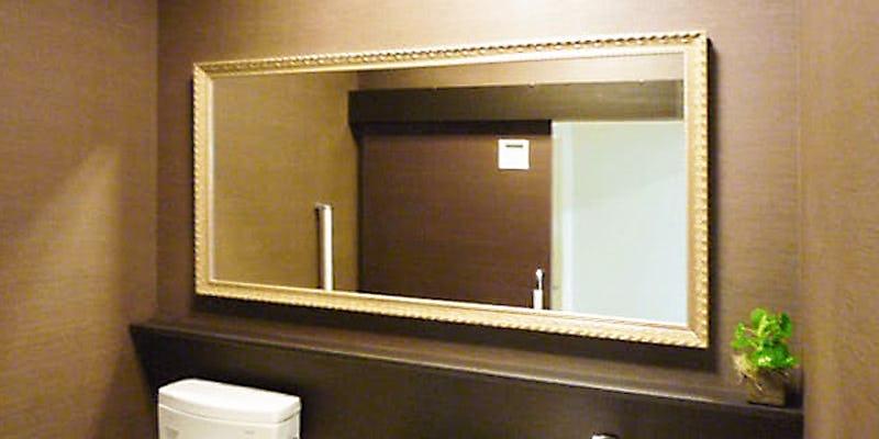 トイレに「バロック調ミラーシリーズ G-20167」を使用した事例