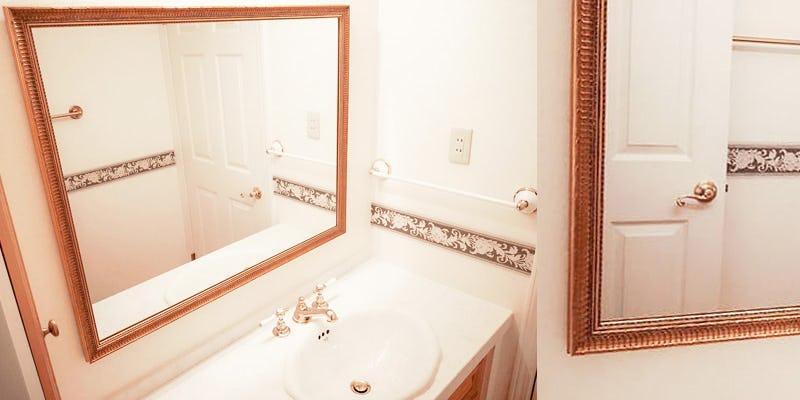 洗面所にアジアンミラーシリーズ「A-682G」を使用した事例 (千葉県千葉市 E様)