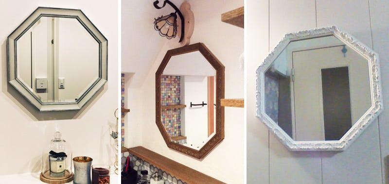 八角形鏡-施工事例